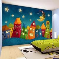 great kids bedroom mural Custom Wall Paper Cartoon Children Castle 3D Wall Murals Kids Bedroom Eco Friendly Non Woven ...
