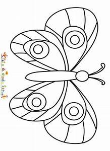 Dessin Facile Papillon : un papillon facile colorier ~ Melissatoandfro.com Idées de Décoration