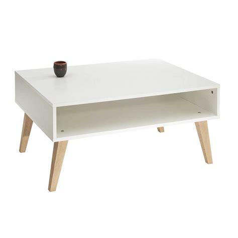 achat de canapé table basse pieds inclinés eléonor pieds bois blanc