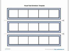 Visual Schedule Template weekly printable calendar