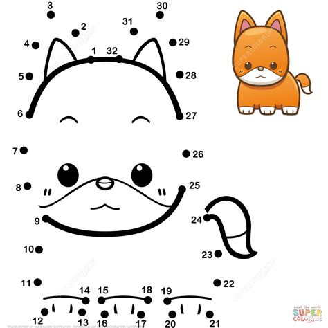 baby fox coloring pages baby fox dot to dot free printable coloring pages