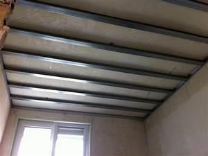 Pose D Un Faux Plafond En Ba13 : types de rails et montants pour plafond autoporteur placo ~ Melissatoandfro.com Idées de Décoration