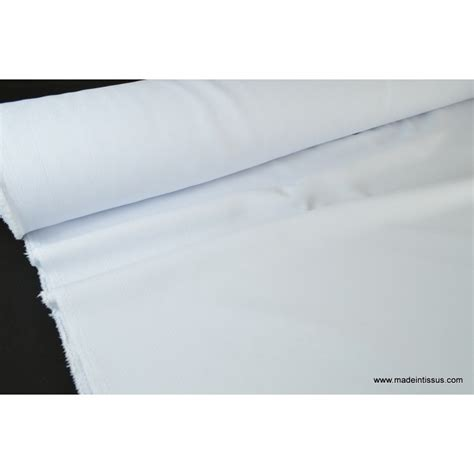 tissu grande largeur antitaches blanc pour nappes x 1m made in tissus