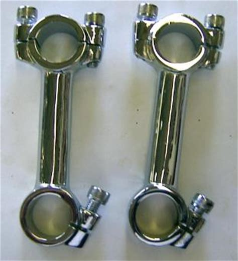 handlebars risers for chopper builders from bitter end old school choppers z bars
