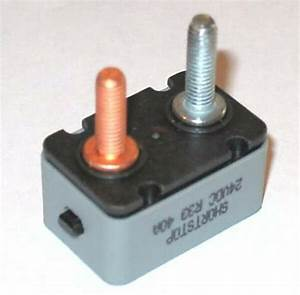 40 Amp 24 Vdc R33 Shortstop Manual Reset Button Circuit