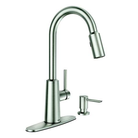 moen kitchen faucets moen nori stainless steel one handle pull spot resist