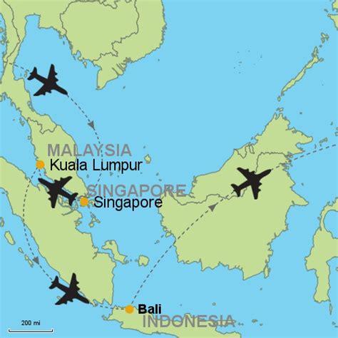 kuala lumpur singapour voyages cartes
