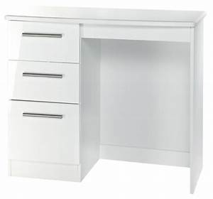 Knightsbridge White Dressing Table - Vanity Knee Hole