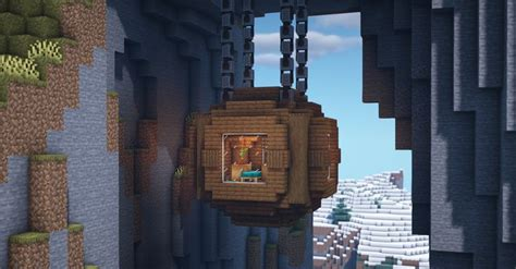 hanging house  grindstones  chains minecraft cool minecraft houses minecraft