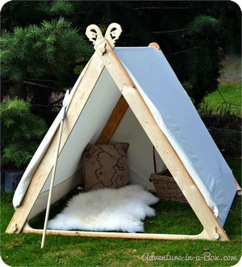 how to make a canopy how to make a viking backyard play tent