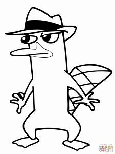 Agent Perry The Platypus Is Sneaking Around coloring page ...