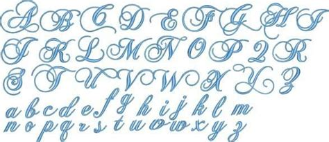 fancy script alphabet uppercase  lowercase monogram fonts set includes upper  case