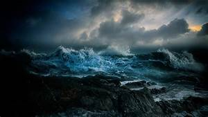 Stormy Sea Full HD Wallpaper and Background Image ...