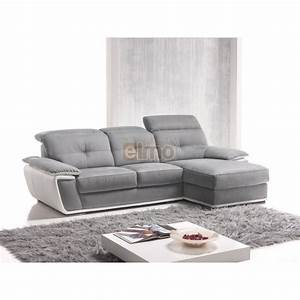 canape d39angle cuir bicolore avec tetiere inclinable With tapis moderne avec canapé d angle cuir vieilli