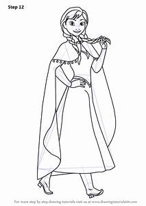 Step By Step How To Draw Anna From Frozen