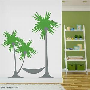 Palm tree wall stickers peenmediacom for Beautiful palm tree decal for wall