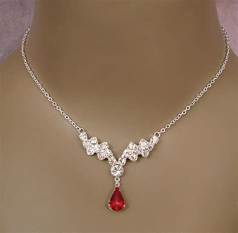 For bridesmaids jewelry, see our Indulge Red Rhinestone