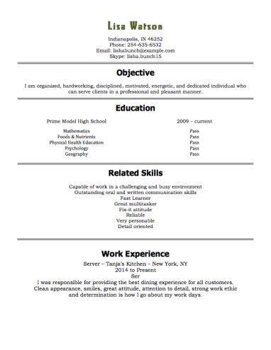 resume templates  year olds resumetemplates student