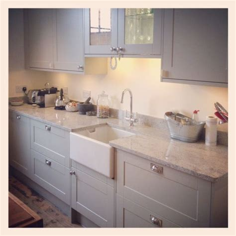kitchen worktop lights painted light grey wood kitchen with marble worktops and 3523