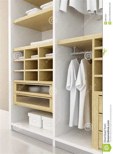 inside the closet 3d rendering stock photography image