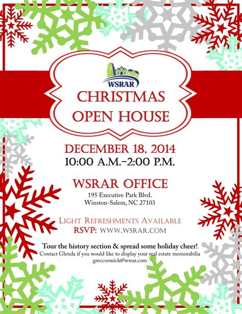 december 18 wsrar christmas open house winston salem