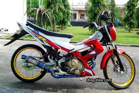 50 gambar modifikasi satria fu thailook terbaik terkeren air brush kontes drag bike