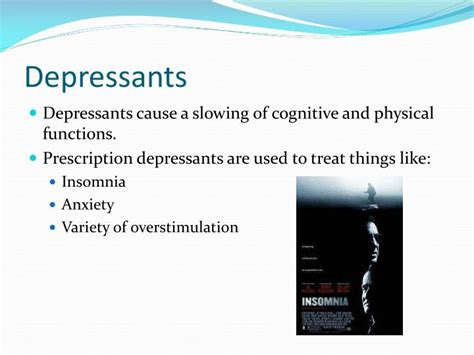 stimulants  depressants powerpoint