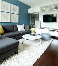 excellent family room accent wall Decorations & Accessories, : Excellent Teal Wall Accent In Urban White Living Room Design With L ...