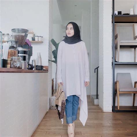 model outfit baju tunic hijabers ala selebgram