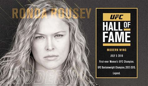 ufc showcases ronda rousey s journey to the ufc hall of fame wrestling