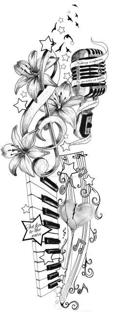 100 Music Tattoo Designs For Music Lovers | Music tattoo