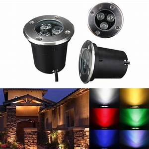 W led waterproof outdoor in ground garden path flood