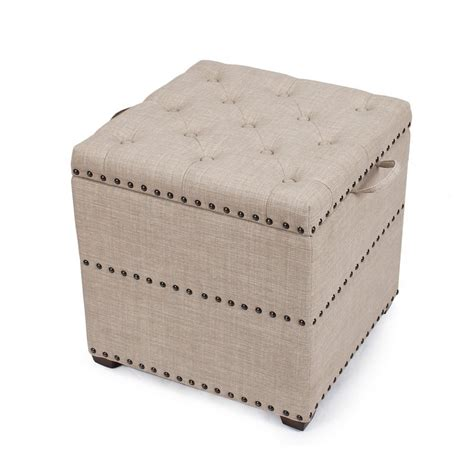 recliner with storage ottoman adeco begie square ottoman with tray storage ft0048 3