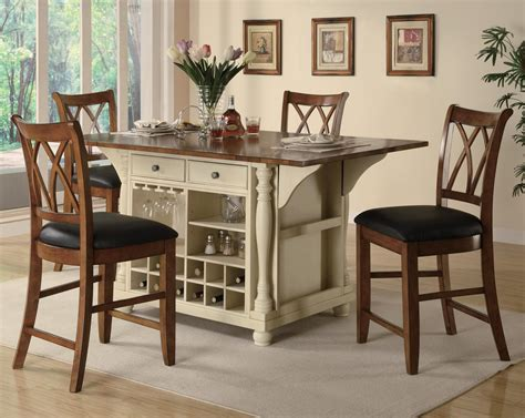 kitchen island with drop leaf breakfast bar counter height kitchen tables for special dining room