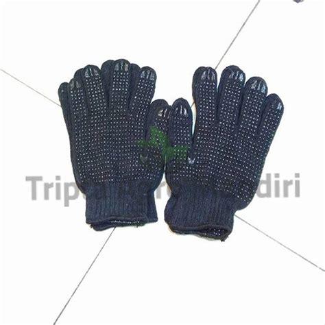 jual sarung tangan kain bintik hitam di lapak tripta agro