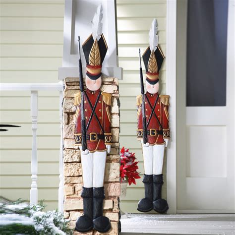 metal tin soldier coat outdoor wall decoration nutcracker ebay - Outdoor Soldiers For Christmas