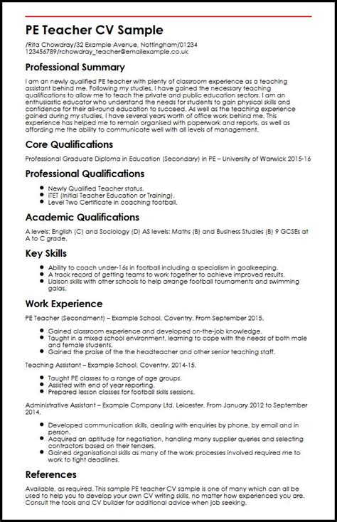 pe teacher cv exles uk the rushessay writing service works hard for students top essay writing