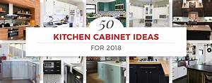 50 kitchen cabinet ideas for 2018 for Kitchen cabinet trends 2018 combined with large glass wall art