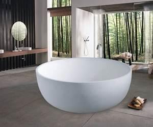 Badewanne Freistehend Für Garten : 20 runde badewanne designs die das bad in ein paredies verwandeln ~ Markanthonyermac.com Haus und Dekorationen