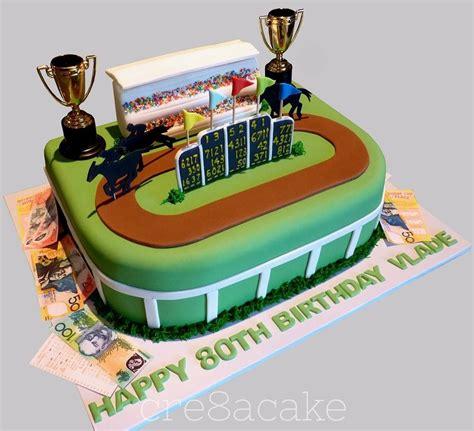 horse racing cake  edible betting slip