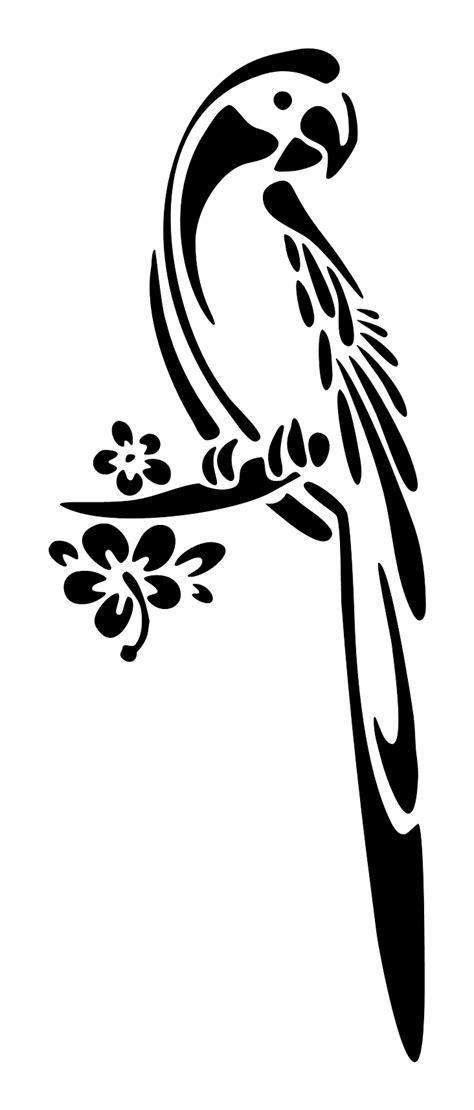 pochoir tatouage temporaire perroquet uniktattoo