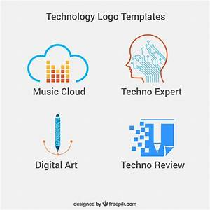 Technology logo templates Vector | Free Download