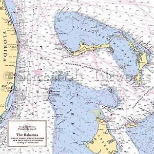 Islands Grand Bahama Nautical Chart Decor
