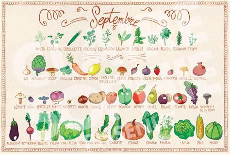 calendrier de fruits et l 233 gumes de saison septembre basilic et potiron