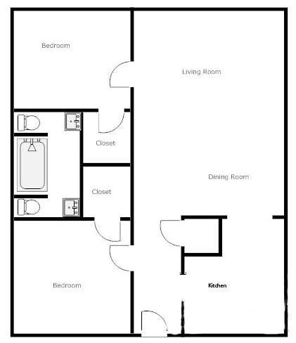 simple  bedroom house plans google search house plans