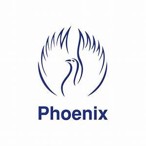 Blue Phoenix Bird Logo - Vector download