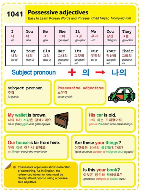 1041possessive Adjectives  Easy To Learn Korean (etlk