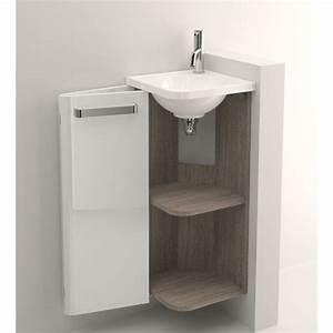 Petit Lave Main D Angle Wc : meuble lave mains d 39 angle decotec jazz ~ Premium-room.com Idées de Décoration