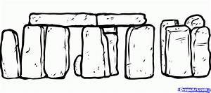 How to Draw the Stonehenge, Stonehenge, Step by Step ...
