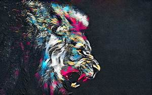 3840x2400, Abstract, Artistic, Colorful, Lion, 4k, Hd, 4k